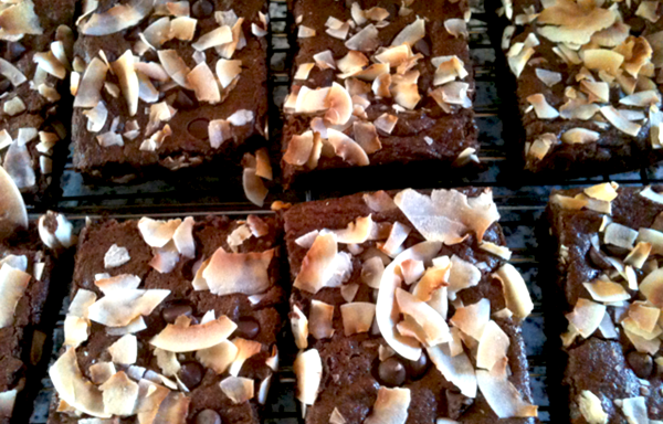 Vegan Chocolate Coconut Brownies